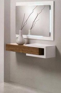 Modern wall mirror design ideas for living room wall decoration 2019 Entryway Decor, Bedroom Decor, Wall Decor, Home Interior Design, Interior Decorating, Home Furniture, Furniture Design, Dressing Table Design, Regal Design