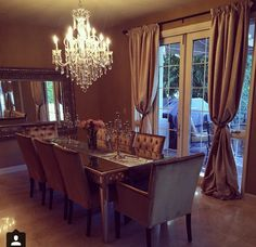 My dream dining room - unfortunately not toddler friendly