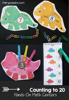 Dinosaur Math Activities (0-20) – Fairy Poppins