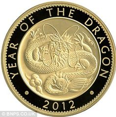 THATS MY YEAR!  The Chinese dragon on the £1,000 coin