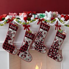 Send Perfectly Plaid Rustic Stocking and other personalized gifts at Personal Creations. 3d Christmas, Christmas Mantels, Outdoor Christmas, Christmas Lights, Christmas Decorations, Christmas Ornaments, Christmas Ideas, Holiday Decorating, Christmas History