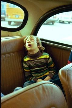 No seatbelts and big back seats on which to sleep!  There was nothing more secure than arriving home safely, under your parents' care, after falling asleep on the trip home!  :)