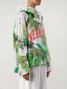 Off-white Leaves Printed Hoodie - The Webster - Farfetch.com