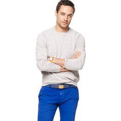 Plaited cotton sweatshirt sweater