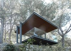 Architect Philipp Bretschneider has perched a garden viewpoint on a picturesque Mallorcan hillside, using the steel structure to frame views of the sea