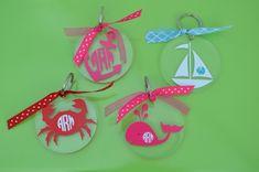 Nautical Acrylic Monogram Keychain