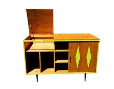 Mid Century Inspired Danish Modern Stereo Turntable Cabinet on Etsy, $695.00