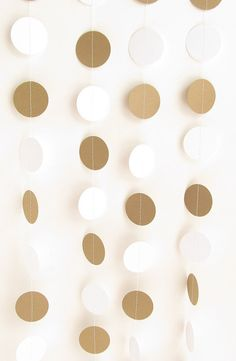 Paper Garland DIY Kit Brown and White Rustic by TheSimplyChicShop, $5.00