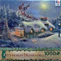 ceaco thomas kinkade 2013 christmas jigsaw puzzle dash away all 3328 christmas puzzle