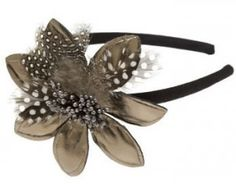 feather flower headband!