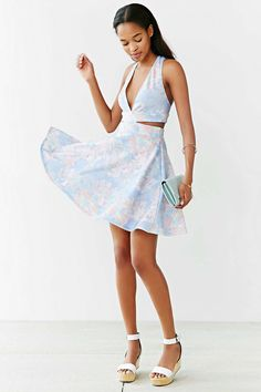 Oh My Love Sarah Loves Plunge Cut-Out Dress - Urban Outfitters