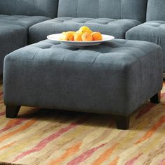 Belaire Contemporary Ottoman by Jonathan Louis