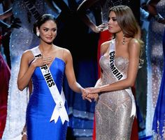 Miss Philippines 2015, Pia Alonzo Wurtzbach and Miss Colombia 2015, Ariadna Gutierrez Arevalo Ethan Miller/Getty Images