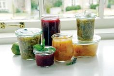 Homemade herbal infused jams that require no canning!
