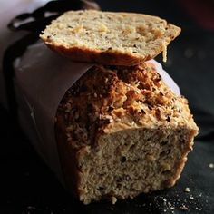 Easiest Bread Recipe Ever! With Whole Wheat Flour, Baking Powder, Sugar, Flax Seeds, Sesame Seeds, Club Soda