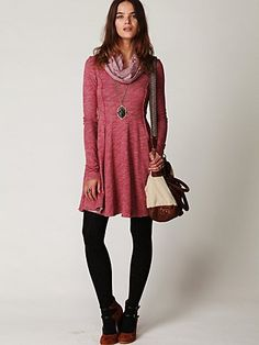 Cozy Fall dress.  Looks so comfy...reminds me of snuggling movie nights.