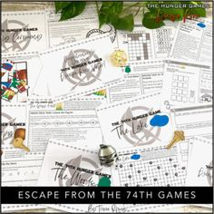 Hunger Games Escape Room: Escape From The Games by Tracee Orman Hunger Games Novel, Hunger Games Catching Fire, Escape Room, My Escape, Figurative Language, Brain Teasers, Mockingjay, Small Groups, Student