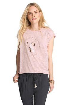 Esprit - Leicht transparentes Ausbrenner-Shirt im Online Shop kaufen