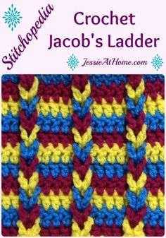The Jacob's Ladder stitch is a great technique for adding texture to a pattern. Here I will show you the basics of making the Jacob's ladder.