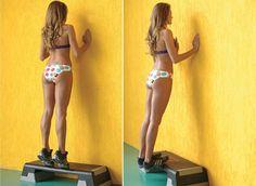 exercício da panturrilha livre para conseguir pernas torneadas