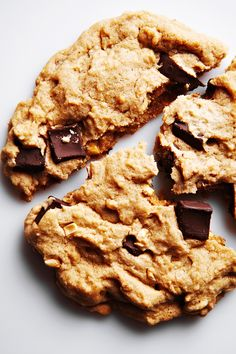 Chunky Peanut Butter, Chocolate and Banana Cookies
