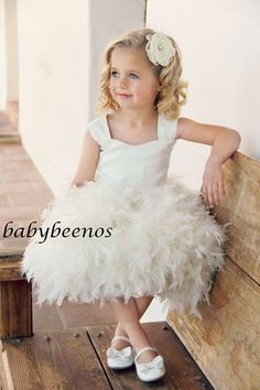 Hey, I found this really awesome Etsy listing at https://www.etsy.com/listing/198174191/flower-girl-dress-feather-flower-girl