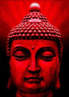 Red Buddha http://michelle-wilmot.artistwebsites.com/featured/red-buddha-michelle-wilmot.html