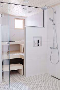 Minimalistic bathroom and sauna. Sauna Steam Room, Sauna Room, Decoration Inspiration, Bathroom Inspiration, Bathroom Ideas, Upstairs Bathrooms, Dream Bathrooms, Mini Sauna, Basement Sauna