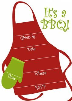 Free Printable BBQ Party Invitations Templates #summer #party #entertaining