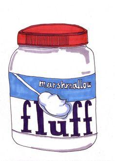Fluff-5x7 inch Print from Original Illustration by homemadepop