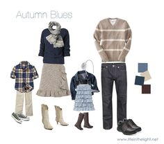 Leaning towards blues and creams... What to wear for family pictures in the fall