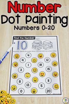 These Find The Number Dot Painting Worksheets are a fun, hands-on way for your students to practice identifying numbers. This dot it activity will help them develop their fine motor skills, hand and eye coordination, and hand control too as they use bingo daubers. But, your students can use other writing tools or manipulatives to cover the number too. This set of no-prep printables includes numbers 0 - 20. Click on the picture to learn more about this number sense activity! #numbersense #numbers