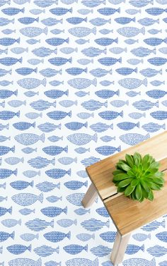 Shoal is a Blue Fish Motif Vinyl Flooring design that features a pattern of illustrative, minimalist fish drawings with textured stripe, dot and arrow details. This design is perfect for incorporating some fun design into a domestic or commercial space without compromising on style.  #vinyl #flooring #inspiration #design #decor #home #homedecor #interior #interiordesign #Ihavethisthingwithfloors