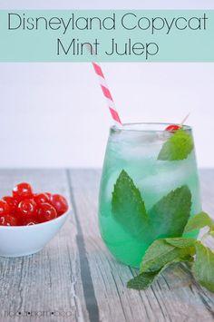Disneyland Copycat Mint Julep Recipe ½ cup of lemonade ½ cup of limeade 1 T of creme de menthe syrup