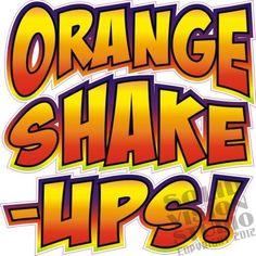 "14"" Orange Shake Ups Concession Trailer Juice Frozen Floats Vinyl Sign Decal   #SolidVisionStudio"