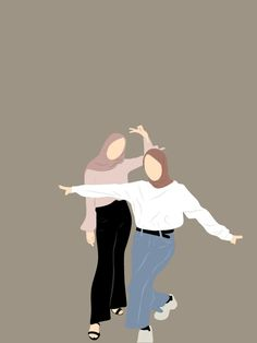 Friends Illustration, Illustration Girl, Girl Cartoon, Cute Cartoon, Vector Character, Cover Wattpad, Portrait Vector, Hijab Drawing, Photographie Portrait Inspiration