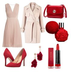 A fashion look from October 2017 featuring pleated dress, pink coats and slip-on shoes. Browse and shop related looks. Max Factor, Miss Selfridge, Tory Burch, Polyvore, Stuff To Buy, Shopping, Collection, Design, Women