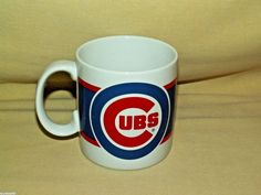 Chicago Cubs Baseball MLB Russ Berrie Co Inc Coffee Tea Cup 6094 Made Korea #RussBerrieCoInc #ChicagoCubs