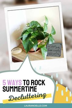 It's finally summer -- the kids are out of school and you are free to finally dig in and declutter the house! Here are 5 ways to make the most of your efforts. Small Bathroom Organization, Life Organization, Getting Rid Of Clutter, Minimal Decor, Declutter Your Home, Simple Living, 5 Ways, Activities For Kids, Summertime