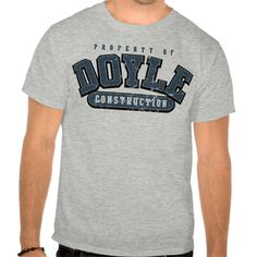 DOYLE CONSTRUCTION, Athletic tee, GRAY BLUE WORN T Shirt, Hoodie Sweatshirt