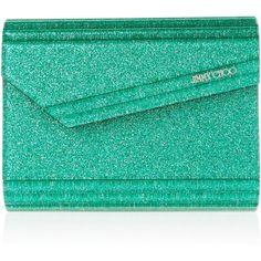 Jimmy Choo The Candy glitter-print acrylic clutch ($230) ❤ liked on Polyvore featuring bags, handbags, clutches, jimmy choo, purses, pochette, glitter purse, jimmy choo purses, jimmy choo clutches and fold over handbag