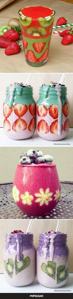 Since smoothies take minutes to prepare, why not spend a little extra time creating something truly beautiful to sip on? These gorgeous photos are sure to inspire happier mornings.
