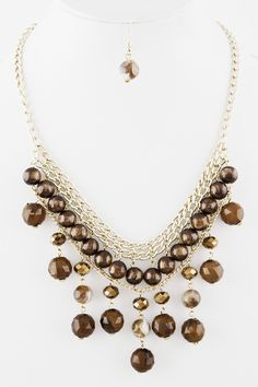 Bead Drop Collar Necklace