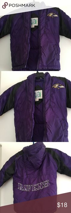 NFL Kids Ravens Purple Puffer Jacket With Hoodie 5 NFL Kids Baltimore Ravens Purple Puffer Jacket With Hoodie Size 5 NFL Kids Jackets & Coats Puffers