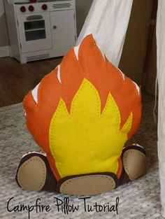 Campfire Pillow Tutorial! CUTE!!!