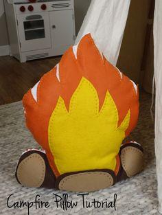 Campfire Pillow Tutorial! CUTE!!!
