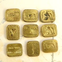 Antique Bronze French Wax Seal Stamp Set Sceau by rosamystica