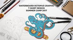 "‪""logic will get you from A to Z, imagination will take you everywhere""... http://florinchitic.com/waterboard-octopus-project/ #drawing #design #sea #creative #concept #uniquedesign #waterboard #art #octopus #seacreature #tshirtdesign #print‬"