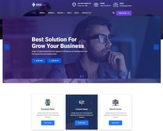 Drago – IT Solution & Business Services WordPress Theme includes 5 Home Demos 30+ carefully designed inner pages and 70+ Elementor Custom addons with elements all you need for build perfect website. Service Projects, Computer Repair, Growing Your Business, Wordpress Theme, Web Design, Ads, Website, Blog, Design Web