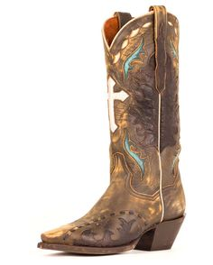 Love these Dan Post boots- vintage leather & cross underlay! | http://www.countryoutfitter.com/products/29216-anthem-boots-womens #cowgirlboots